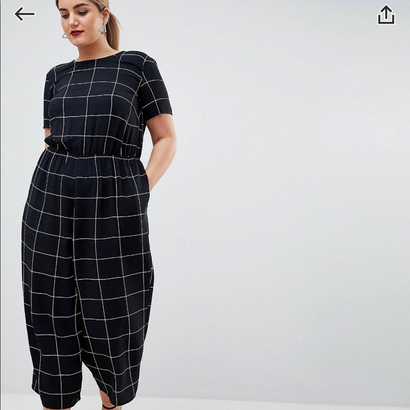 ba8ed507bf6f ASOS CURVE EXCLUSIVE Jumpsuit with Short Sleeves